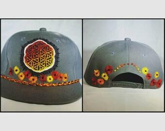 Sunflower OOAK hat