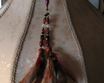 Beads and Feathers Clip