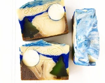At The Lake Soap, Beer Bar Soap, Minnesota Wild Rice Exfoliant, Biodegradable Soap, Pine Tree Scented Soap, Minnesota Soap, Unique Gift Soap