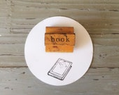 Vintage Book Stamp / Wood Handle Stamp / The Classroom Printer / Old Wood Stamp / Book Stamp / Printer Stamp / Book Lover Gift