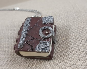 Hocus Pocus Book Pendant - Polymer Clay