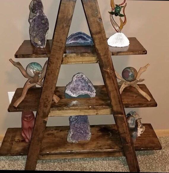 Rustic Ladder Shelf A Frame Shelf Rustic By Serenevillage
