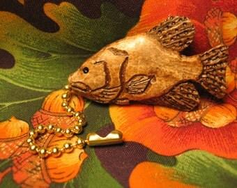 "Lighting Light Pull ""Crappie sunfish ""ceiling Fan Pull Home an& Living Lighting Light Pull Miniature handmade resin pull"