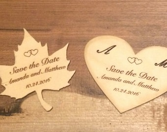 Save the Date Wooden Cards