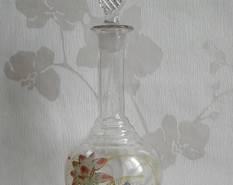Carafe, enamelled glass, french antique