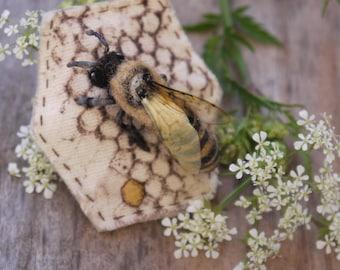 Honeybee brooch