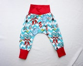 Harem Pants 0-24 mos 2T-6 Dr. Seuss Baby Harem Pants Infant Cat in the Hat Harem Pants Thing 1 Thing 2 Outfit Toddler Dr Seuss Party Outfit
