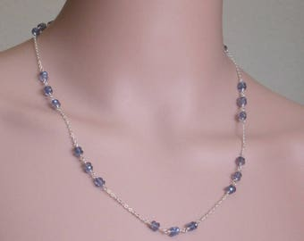 AA Grade Iolite Sterling Silver Necklace