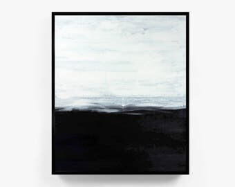 Black and White Painting Print, Abstract Black and White Paintings, Minimalist Painting Prints, Framed Abstract Wall Art, Large Abstract