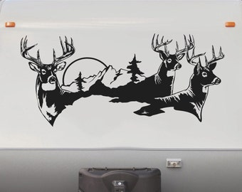 Deer Buck Hunting RV Camper Motorhome Replacement Decal Sticker Graphic Sign Mural DD1001