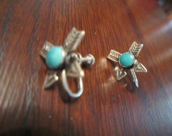 Harvey Era Earrings Sterling and Turquoise