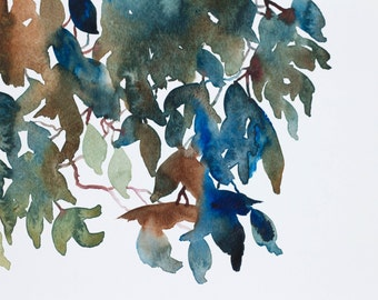 autumn leaves no. 4 . original watercolor painting