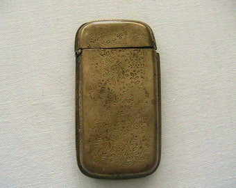 Match Safe, Vintage Victorian Copper? Match Case Dated 1884