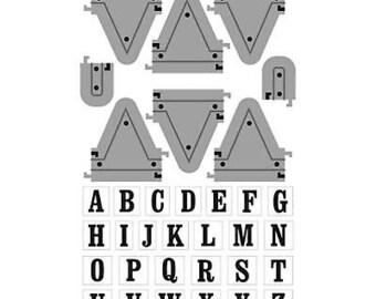 Art-C BANNER ALPHABET Stamp & Die set cc21