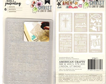 Bible Journaling STENCILS TODAY'S BLESSING by American Crafts Bible Journaling 6 Stencils 378671 1.cc02