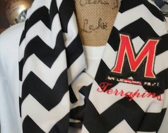 Maryland Terrapins Double loop infinity scarf