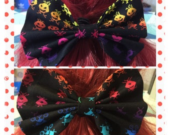 Space Invaders Hair Bow