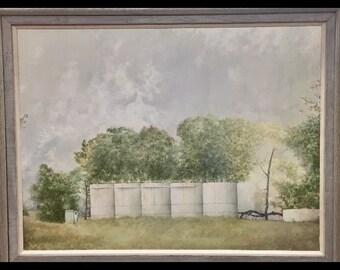 Texas Landscape latge oil painting.