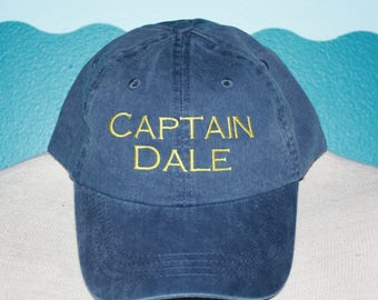 Custom Baseball Cap - Captain name embroidered baseball cap - Great custom gift - baseball hat embroidered - personalized captain hat