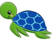 Sea Turtle Iron-On Patch Applique - Kids / Baby
