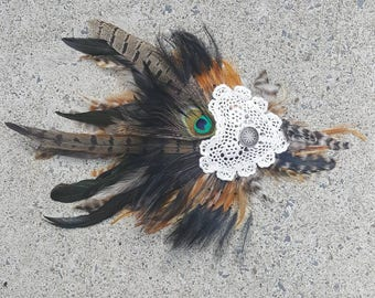 Earthpunk Feather Fascinator