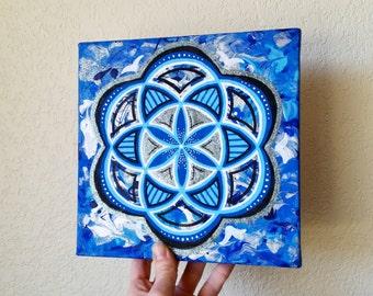 Original Seed of Life/ Sacred Geometry Painting