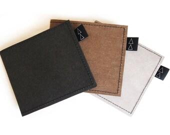 WALLET vegan dark brown eco friendly for men him unisex design high quality gift casual simple cool elegant minimalist