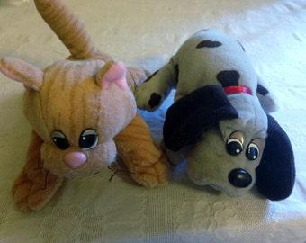 Vintage Pound Puppy and Pound Kitty