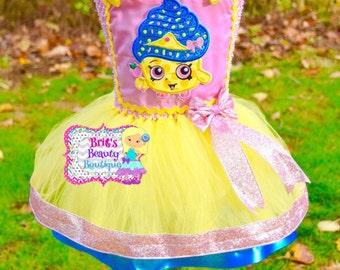 Inspired by Shopkins Cupcake Blue Frosting Glitter Queen/Halloween Tutu Dress/Halloween Costume/Photography Prop/Birthday Tutu Dress/Shopkin