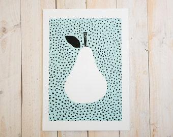 Mint pear ~ A4 print