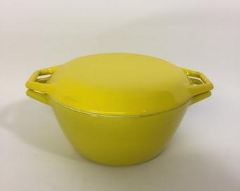 Copco Denmark Michael Lax Yellow Enamel Cast Iron Dutch Oven