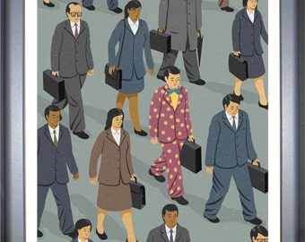 Commute, signed limited edition print