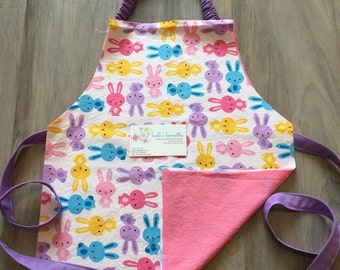 Toddler Bunny Apron, personalized