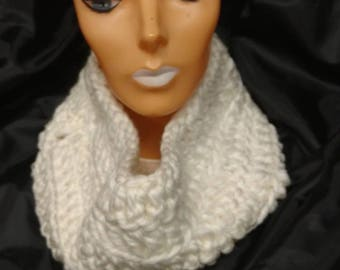 Beautiful Bulky white cowl scarf