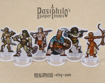 Player Character Barbarians 28mm Role-playing Game Miniatures