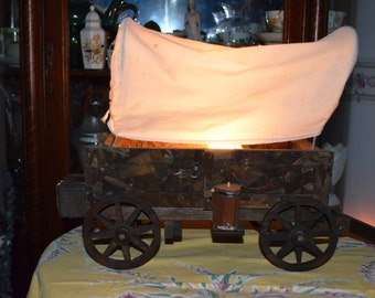 Vintage Covered Wagon Television Light