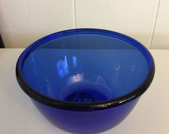 Vintage cobalt blue bowl france glcoloc