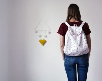 Backpack flexible pattern feather - the case of babes