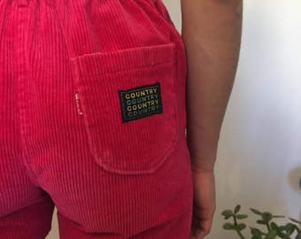 Vintage Pink Corduroy Cut Off Shorts