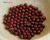 4MM Opal beads / Red Opal Beads / Round beads / Loose Beads / Full Hole Beads / Gemstone Beads / 10 or 20 pcs / October birthstone Jewelry