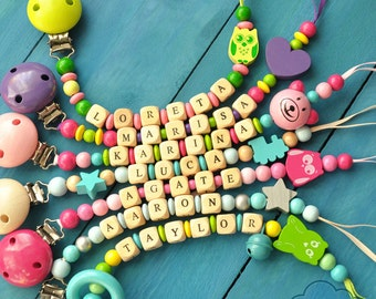 Pacifier Clip, Baby Girl, Baby Boy, Newborn Boy, Newborn Girl, Baby Shower Gift, Pacifier Holder, Binky Clip