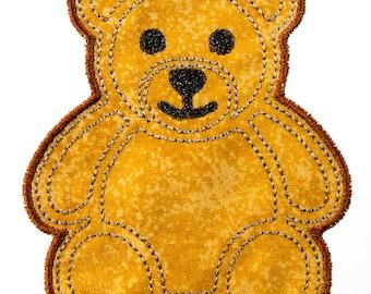 Teddy Bear Applique Machine Embroidery Design