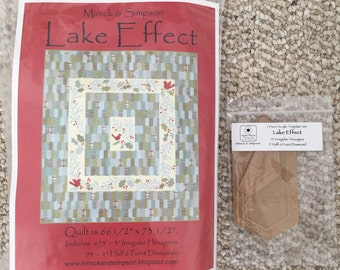 Lake Effect Paper Pieces and Acrylic Templates
