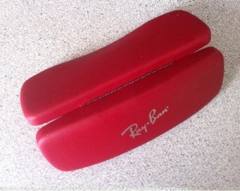 ray ban glass case  vintage ray ban eyeglasses case. hard eyeglasses case. glasses case. ray ban case