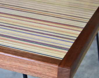 Coffee Table Made from Repurposed Skateboards