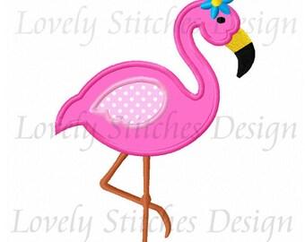 Flamingo Applique Machine Embroidery Design NO:0596