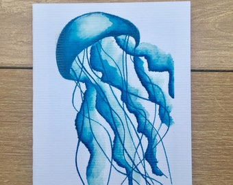 Jellyfish Watercolor notecards