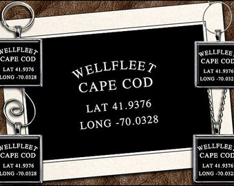 Wellfleet Note Card Set - Wellfleet Pendant, Wellfleet Keyring, Wellfleet Ornament, Wellfleet Wine Charm, Cape Cod Note Card (GP202)