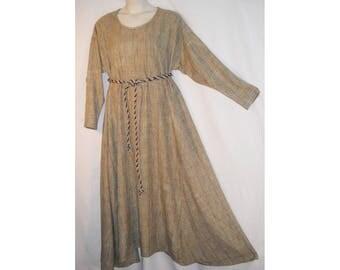 Sz 2X Medieval Wool Silk Blend Dress Gown Viking, Norman, Saxon SCA LARP