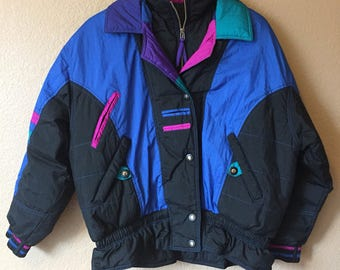 80s 90s East West Puffer Jacket M
